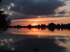 Coucher du soleil à St Mathurin/Loire - 05/07/16