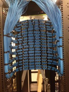 Truly professional cable management. Someone had time on their hands!