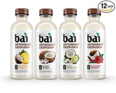 Bai Cocofusions Variety Pack, 5 Calories, No Artificial Sweeteners, 1g Sugar, Antioxidant Infused Beverage (Pack of 12)