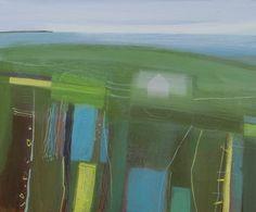 Fiona Millais, daffodil farm, acrylic on canvas, £1150