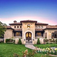 Mediterranean home with entry courtyard