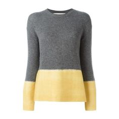 MARNI Colour Block Jumper ($868) ❤ liked on Polyvore featuring tops, sweaters, grey, colorblock cashmere sweater, color block tops, marni sweater, gray sweater and long sleeve sweater