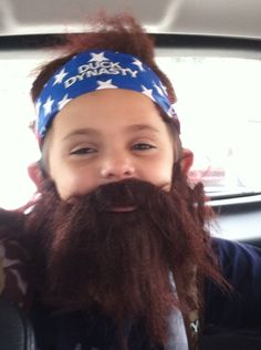 My son Brian is being Willie from duck dynasty for Halloween he's so cute!
