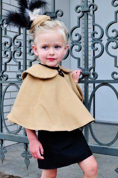 Simple Simon  Company: Little Girl's Birdcage fascinator  cape tutorial