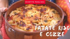 Polenta, Pasta, Bari, Italian Dishes, Starters, Cheeseburger Chowder, Food Videos, Risotto, Menu