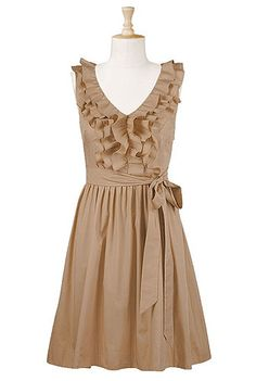 Ruffle front poplin dress $59.95...love this site...pretty pretty dresses