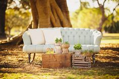 A pretty casual lounge setting.  A Colourful Sydney Engagement Session by Origami Creatives