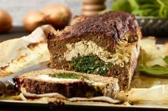 Der Hackbraten kann auch mit normalem Frischkäse, verfeinert mit Kräutern oder Pfeffer, zubereitet werden.