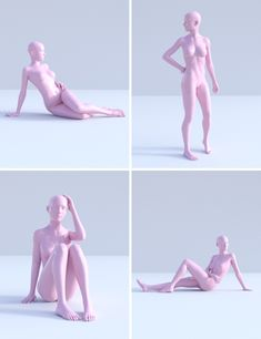 A set of 20 feminine poses and mirrored versions for your elegant girls' photoshoots. Also includes 6 natural expressions, and pose and expression resets. Figure Drawing Reference, Body Reference, Art Reference Poses, Anatomy Reference, Drawing Base, Life Drawing, Anatomy Poses, Character Poses, Anime Poses