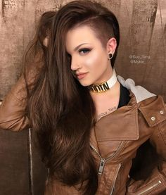 Half Shaved Head Hairstyle 36 Sexy And Hot Half Shaved Hairstyles  Pinterest  Half Shaved