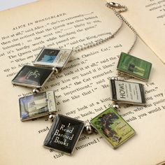 I want to make my own one of these... Banned Books Necklace