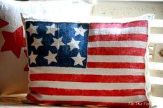 Stars and Stripes Pillow Tutorial - Duke Manor Farm