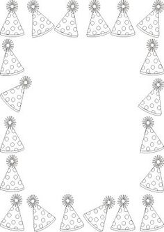Theme Carnaval, Circus Activities, Diy And Crafts, Crafts For Kids, Page Borders Design, Picasa Web Albums, Borders And Frames, Classroom Crafts, Free Printable Coloring Pages