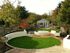 Garden Design Circular Lawns new garden with circular lawns, stone edging and structural