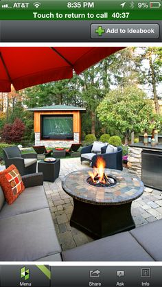 Outdoor living room layout