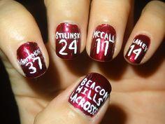 Teen wolf nail design