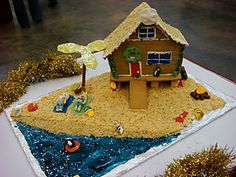 Gingerbread house surf theme