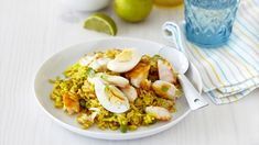 Kedgeree is easy to make and adds a new dimension to weekday meals. It can also be served cold the next day with salad as a light lunch. Weekday Meals, Frozen Peas, Seasoning Mixes, Cooking Classes, Main Meals, Meal Ideas, Food Ideas, Seafood