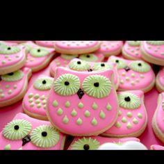Look whoooo's having a baby! Baby shower owl cookies! So precious!
