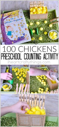 Work on counting to 100 with this preschool counting activity. Practice counting by 10's and work those fine motor muscles too.