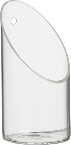 Shop wall-mounted tea light candle holder.  Handmade beaker glass cylinders angle single tea lights. Magical in multiples, mini price.