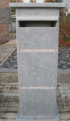 Brievenbus Belgische blauwe steen - duurzaam - onderhoudsvrij - onberispelijke afwerking -   UIT EIGEN LAND AAN DE BESTE PRIJS!