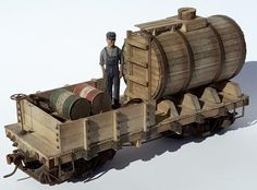On30 Morgan Hill Models Short wooden Tank Car