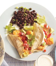 Shrimp Tacos With Black Beans Recipe (2011)
