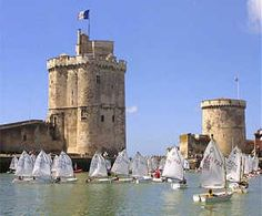 From SILENT HEART (Book 1 in series Renaissance Brides): Towers St. Nicholas and Chain, guard the harbor of La Rochelle. Françoise fled with her mother and young brother from their burning house there during the Religious wars in century France. Tool Images, Beautiful Places To Visit, Beautiful Beaches, La Rochelle France, Culture Of France, Poitou Charentes, Ville France, Aquitaine, France Travel