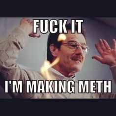 Fuck it, I'm making meth