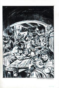 Conan by JOHN BUSCEMA (blue-line) & Bill Reinhold inks- SOLD by John…