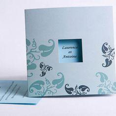 faire part mariage pas cher bleu - http://www.joyeuxmariage.fr/boutique/pochette-style-faire-part-mariage
