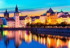 Photo about Scenic summer sunset panorama of the Old Town ancient architecture and Vltava river pier in Prague, Czech Republic. Image of cathedral, prague, pier - 42401432 Travel The World Quotes, Destinations, Visit Prague, Old Town Square, Uk Images, Summer Sunset, Ancient Architecture, Photo Online, Adventure Is Out There
