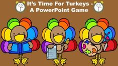 This turkey themed game reviews the concept of time to the nearest five minutes. It includes the following components:** Review of the minute and hour hands.** Tips and tricks for telling time.** Time to the Nearest Five Minutes Practice - 24 questions**The Lightning Round! This round is a mix of ti... Powerpoint Games, Thanksgiving Math, Farm Fun, Team Games, Little Learners, Telling Time, Dry Erase Board, Fun Math, Math Lessons