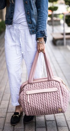 HAPP Blush Diaper Bag HAPP is changing the diaper bag game with its quilted  cotton in 215a21bdb0