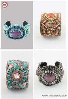 Bid adieu to your years old bangles and churis, and make a new style statement with these trendy beaded cuff bracelets. Choose from the bundle of handcrafted beaded cuff bracelet designs. I bet, you can't have just one, you will ask for more! Visit http://www.wowtrendy.com/ for trendy beaded cuff bracelets.   #bracelet #beadedbracelet #handmadejewellery #fashion #wowtrendy