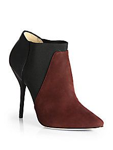 Jimmy Choo - Delve Suede & Leather Colorblock Ankle Boots (=)