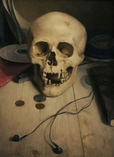 Carl Dobsky  Skull with Earbuds  2009