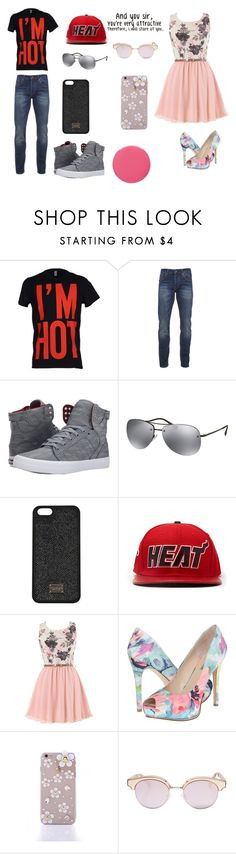 """""""And you sir, you're very attractive therefore I will stare at you"""" by zoetheoreo ❤ liked on Polyvore featuring Moschino, Scotch & Soda, Supra, Prada, Forever 21, GUESS, Le Specs and Smith & Cult"""