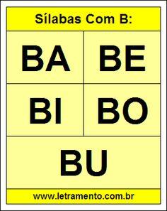 sílabas com ba be bi bo bu para imprimir