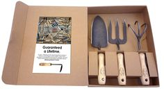 Dewit 3-Piece Tool Gift Set with 3-Tine Cultivator, Forged Trowel and Forged Hand Fork >>> For more information, visit image link.