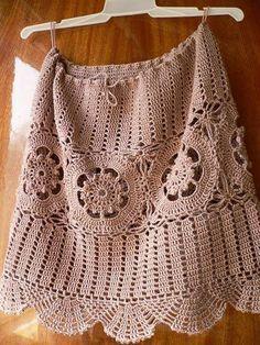 CROCHE DA ANJINHA: Um motivo varias possibilidades,saia e vestido em croche