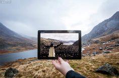 King Arthur filming location in Llyn Ogwen, Wales.