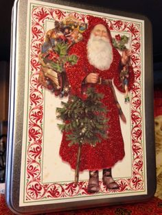 This Santa Christmas card with glitter has been very popular so far!