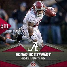 crimsontide_fb's photo: Ardarius Stewart named Offensive Player of the Week. #BAMAvsMSST #RollTide #HuntFor16