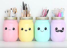 Kawaii: deze pennenhouders maak je helemaal zelf! Een leuke DIY voor jouw studentenkamer.