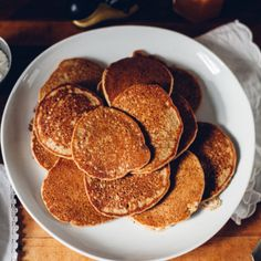 Fluffy Oat & Apple Cider Pancakes with Whipped Coconut Cream (Gluten Free)