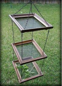 Dry herbs using old picture frames & screen