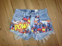 Denim High Waisted Vintage Cut Offs Levis with by LoveUglyShop, kr350.00