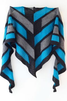 Knitting Pattern for Earth and Sky Shawl by Stephen West